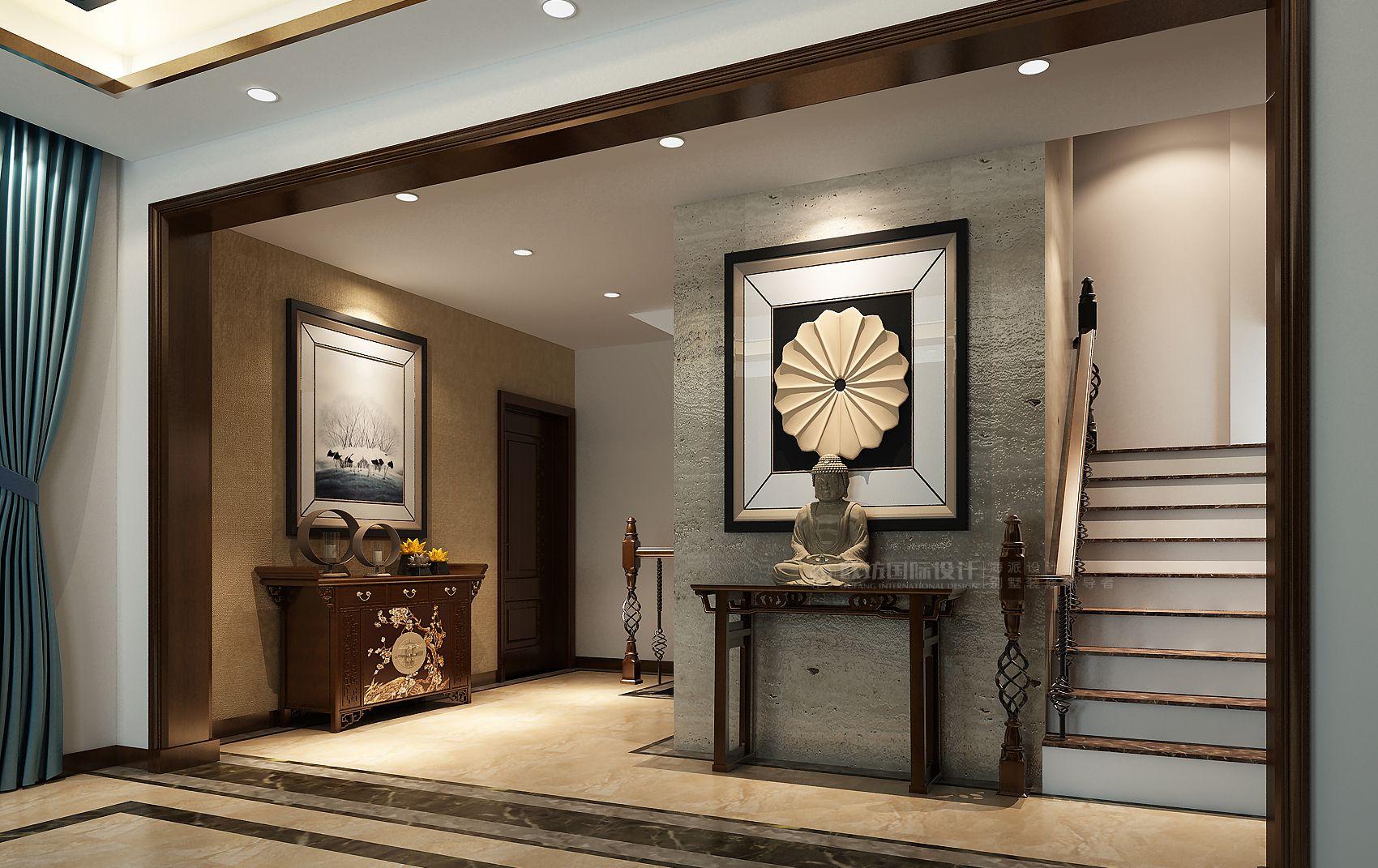 【图】上海别墅鸿郡联排别墅装修效果图新中式大亚湾2017在远洋售图片