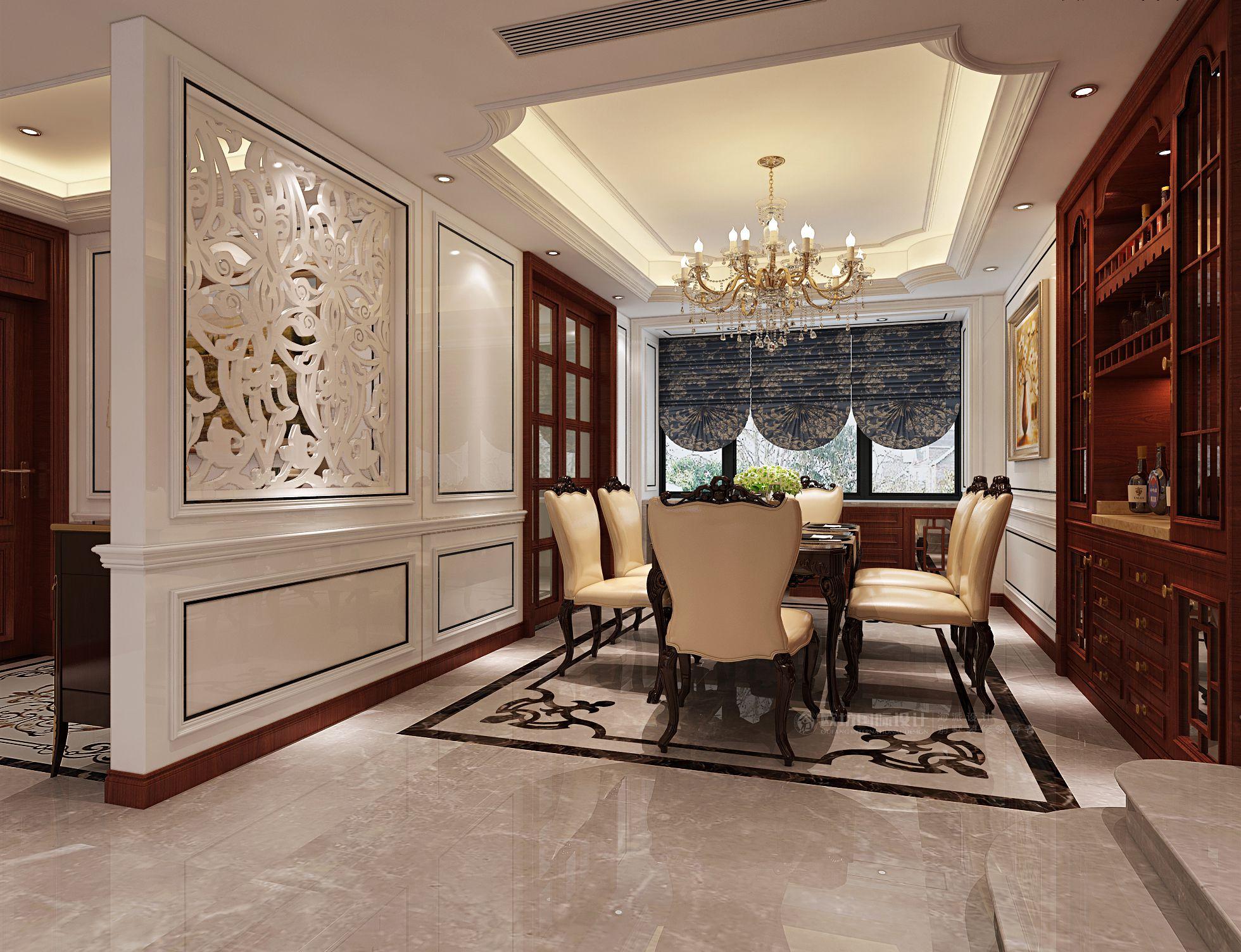【图】上海宝莲花园大平层装修效果图欧式风格140平米