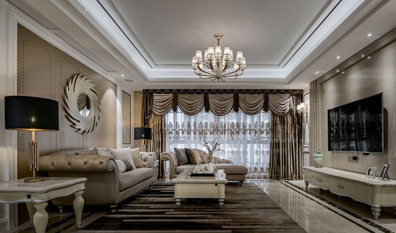 【图】翡翠公馆欧式风格大平层装修设计案例_上海欧坊国际设计