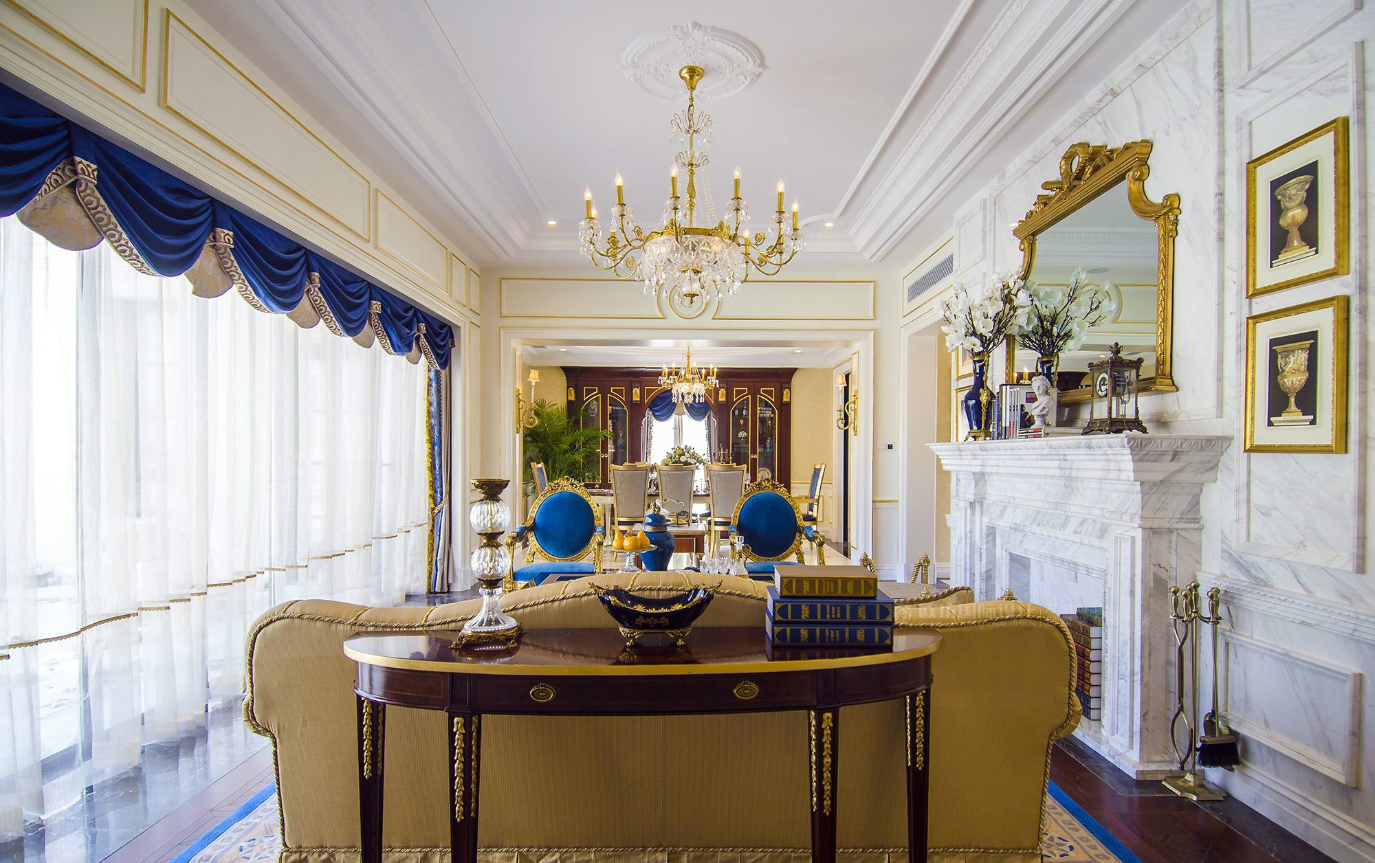 【图】御翠园丨法式风格丨别墅装修设计案例_上海欧坊国际设计图片