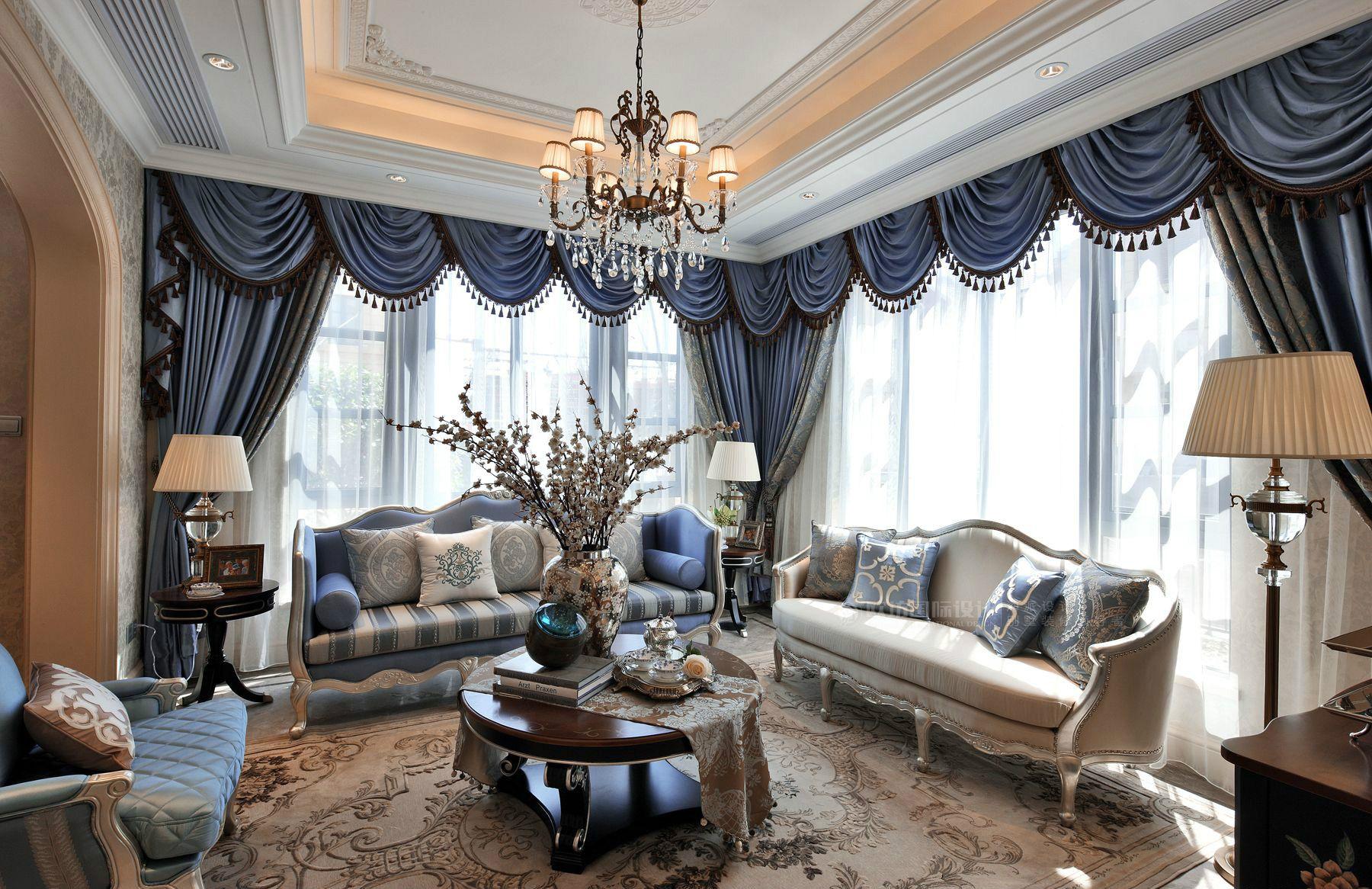 欧坊国际设计|别墅装修设计案例,欧式现代风格!