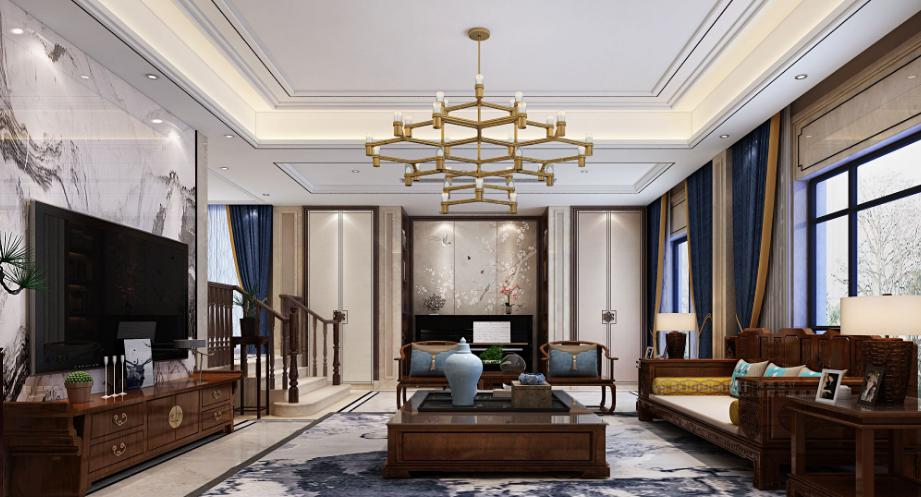 400平米中式风格别墅装修效果图